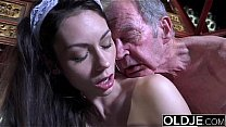 Young maid beauty deepthorating and fucking old...
