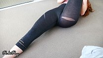 Fit Yoga Babe needs a big load of Cum in her ti...