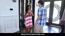 Nosey Neighbor Bangs Hot Black Teen Babe Lala Ivey