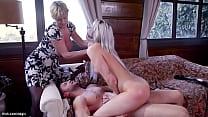 Young boyfriend Seth Gamble whips huge boobs bl...