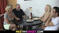 Hot old-young lesbian threesome
