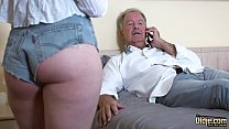 Teenager gets pussy fucked by mature man and sh...