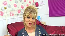 UK milf Gabby Fox teases us in long boots and f...