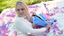 Tiny4k Blonde Lily Rader fucked outside with mo...