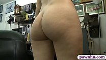 Petite and small breasts blonde babe gets her s...