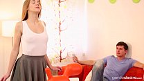 Young Tight Alexis Crystal cums hard after massage