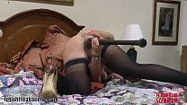 Filthy wife puts a baseball bat in her huge pus...
