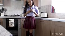 Asian College Girl Ayla Is Forced To Bare All F...