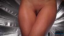 Tiny latina model shows off her incredible ass ...