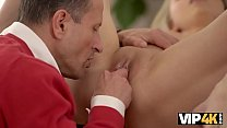 VIP4K. Adorable babe is happy to have unexpecte...