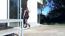 Young vixen Evelina Darling penetrated in doggy...