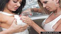 Busty MILF Sara Jay Jayden James Show Big Boobs...