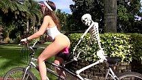Camsoda - Bailey Base On Bike with Bones, Publi...