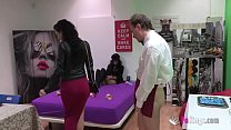 A new blind date!! Busty latina gets fucked by ...