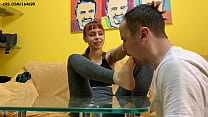 Submissive Boyfriend Serve Bare Feet With His Y...