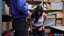 Slutty Muslim girl cock punished by store manager