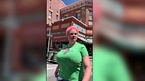 Insane Voyeur Huge Tits Candid at Theme Park