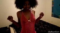 Ebony Girl Teasing In Lingerie