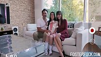 Foster Dad Uses Teen Foster Daughter's Pussy