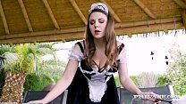 Irresistible maid Sofia Curly gets her great bi...