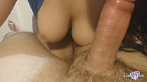 Busty Amateur gets fucked and cum covered pussy