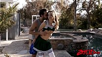 Cheerleader Gia Page fucked and creamed