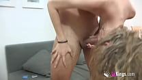 Petite Angelina gets shafted while a horny Asia...