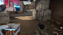 Playing CS GO With Lush Stucked in Her Pussy! C...