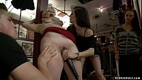 Submissive blonde slave Alice Frost wants to ea...