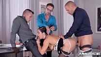 Lesbian dominatrix Kathia  fills subby Chloé La...