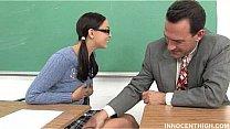 nerdy girl bonked by her teacher