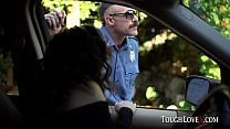 Cute little Latina gets pulled over and fucks t...
