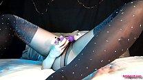 AdalynnX - Sheer Pantyhose Facesit Soaking Thumbnail