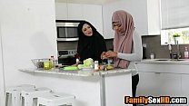 Arab sister in hijab fucked by her brother