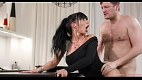 Busty babe Valentina Ricci Received her fair sh...