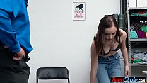 Naughty teen criminal has to satisfy a cop to a...