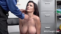 Busty MILF Caught Stealing & Blackmailed