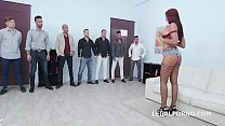 7on1 Creampie and Swallow Gangbang with Jolee L...