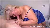 Busty MILF test young big dick with 2 cumshots