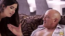 OLD4K. Horny daddy spends all day long with bri...