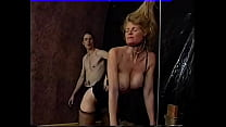 Young guy ties up mature blonde in black stocki...