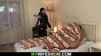 m. in law wakes him up for taboo cock riding