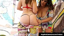 Latina BBW Angelina Castro & Curvy Full Figured...