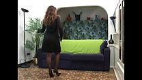 Hot mature lady in stockings gets her asshole f...