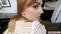 Redhead cougar stepmom offers her hairy cunt fo...