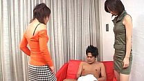 Watch CFNM Japanese senzuri femdom duo inflicts carnage Subtitled preview