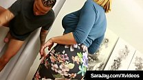 PAWG Boss Babe, Sara Jay bangs horny latino coc...