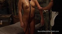 Teen Blonde Slave In Chains Gets Washed By Maid Thumbnail