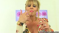 Watch English milf Gabby will make you drool over her sweet fanny preview