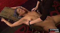 Domina binda black sub before ticklilng feet an...